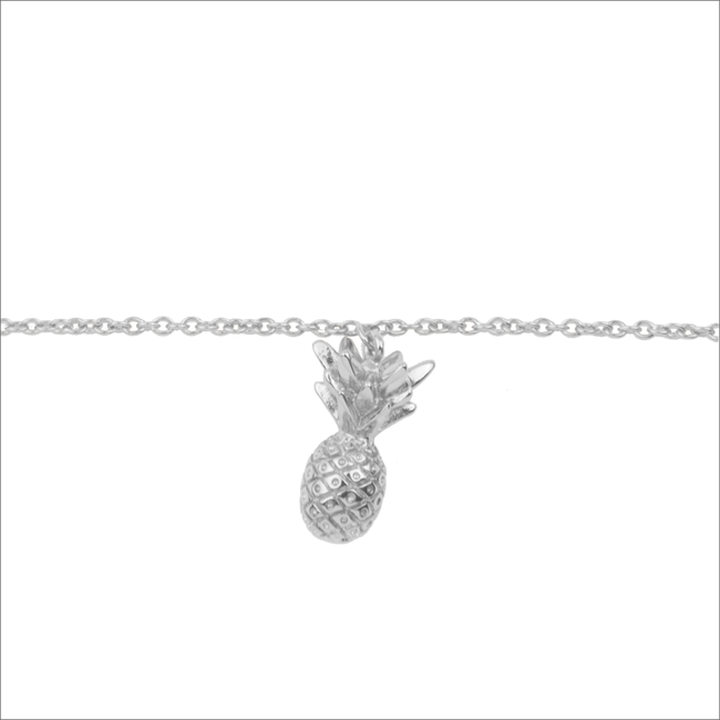 ALLTHELUCKINTHEWORLD Bracelet SOUVENIR BRACELET PINEAPPLE en argent - large