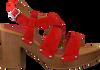 UNISA Sandales TERRAT en rouge  - small