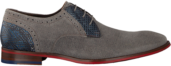 Grijze FLORIS VAN BOMMEL Nette schoenen 18107  - large