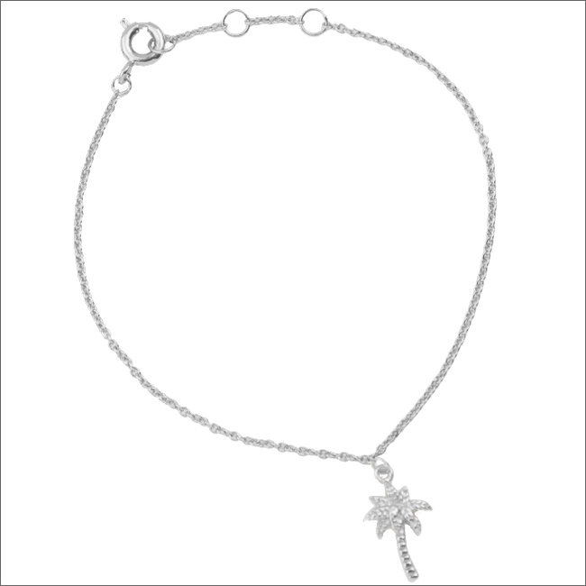 ALLTHELUCKINTHEWORLD Bracelet SOUVENIR BRACELET PALM TREE en argent - large