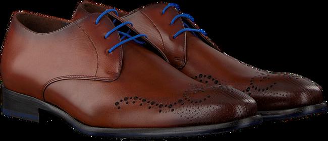 FLORIS VAN BOMMEL Chaussures à lacets 18075 en cognac - large