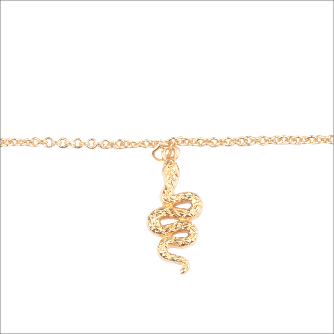 ALLTHELUCKINTHEWORLD Bracelet SOUVENIR BRACELET SNAKE en or - large