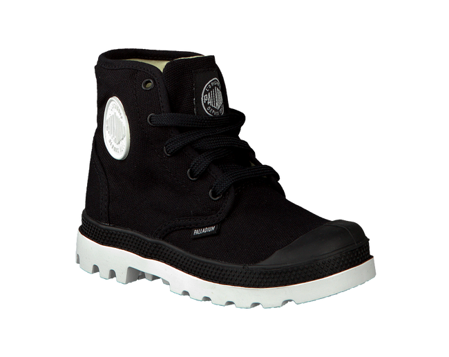 PALLADIUM Bottillons PAMPA HI LACE K en noir - large