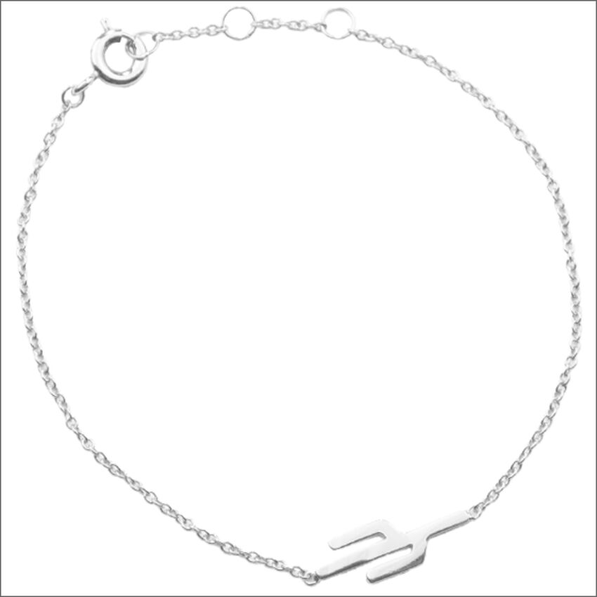 Zilveren ATLITW STUDIO Armband SOUVENIR BRACELET CACTUS - larger