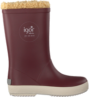 IGOR Bottes en caoutchouc SPLASH NAUTICO BORREGUITO en rouge  - medium