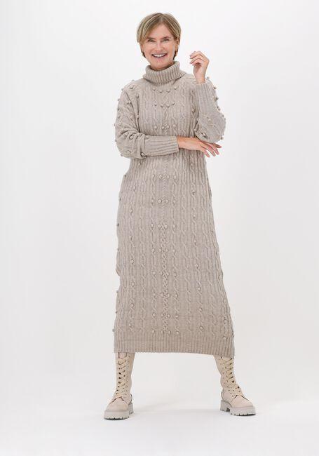 Beige OBJECT Maxi jurk CATON LS KNIT DRESS  - large