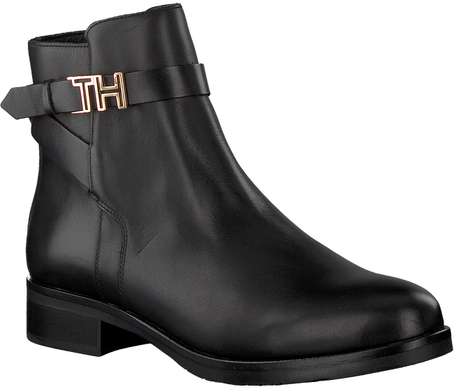 TOMMY HILFIGER Bottines TH HARDWARE FLAT en noir  - large