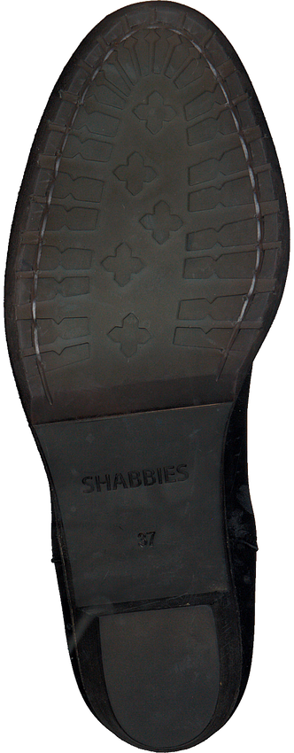 Zwarte SHABBIES Enkellaarsjes 182020094 - larger