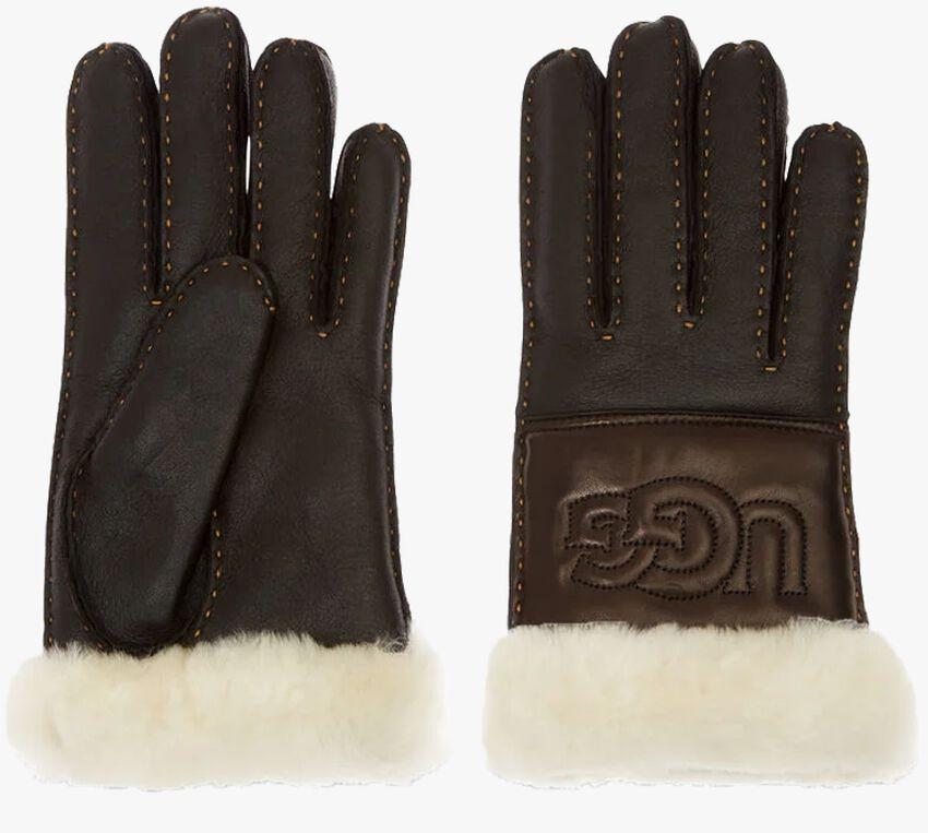 Zwarte UGG Handschoenen SHEEPSKIN LOGO GLOVE - larger
