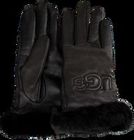 Zwarte UGG Handschoenen CLASSIC LEATHER LOGO GLOVE - medium