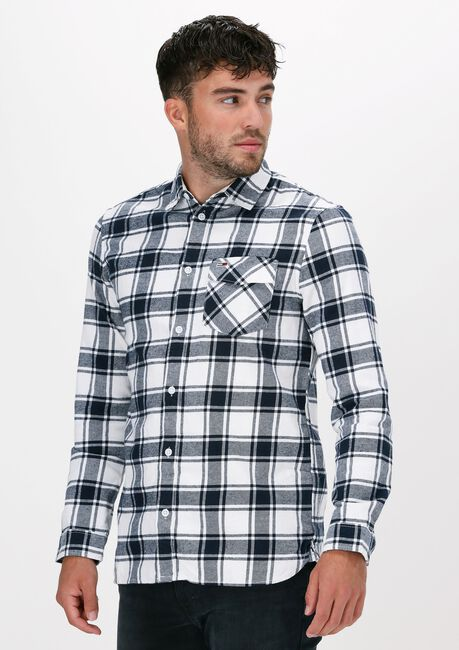 Witte TOMMY JEANS Casual overhemd TJM FLANNEL PLAID SHIRT - large