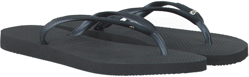Zwarte HAVAIANAS Slippers SLIM CRYSTAL GLAMOUR  - larger