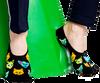 HAPPY SOCKS Chaussettes LINER en noir  - small