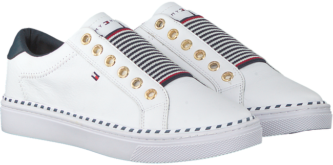 Witte TOMMY HILFIGER Lage sneakers TOMMY ELASTIC CITY  - large