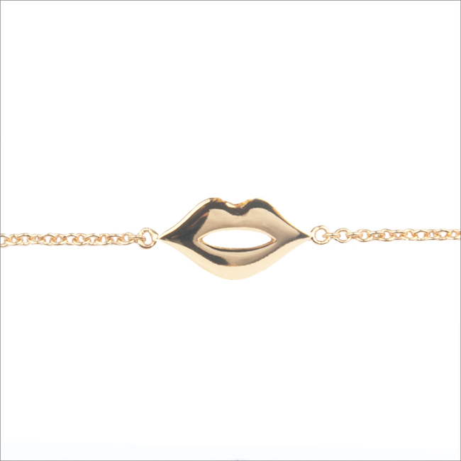 ALLTHELUCKINTHEWORLD Bracelet SOUVENIR BRACELET LIPS en or - large