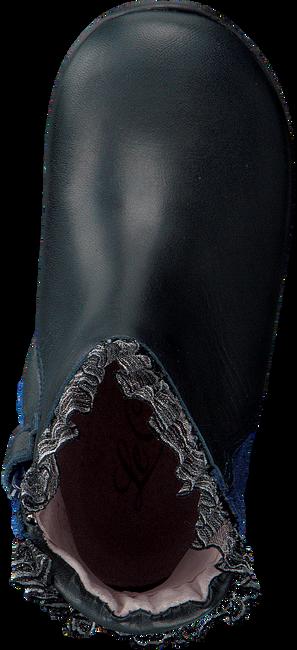 LE CHIC Bottes hautes RUFFLE FLOWER en bleu - large