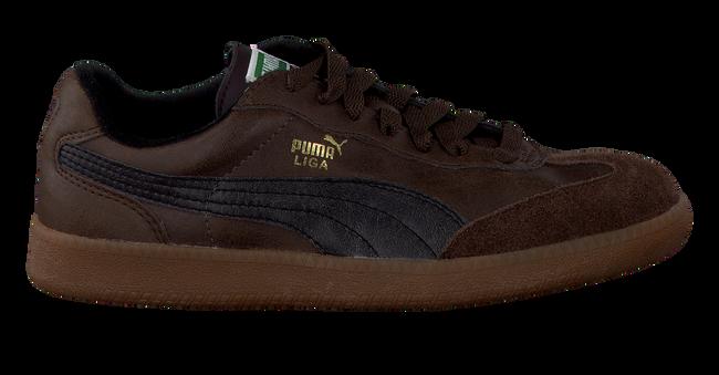brown PUMA shoe LIGA KIDS  - large
