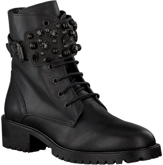 OMODA Bottines à lacets AD426 en noir - large