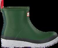 Groene HUNTER Regenlaarzen WOMENS PLAY SHORT SPECKLE SOLE  - medium