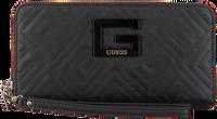 Zwarte GUESS Portemonnee JANAY SLG LARGE ZIP AROUND  - medium