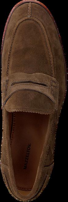 MAZZELTOV Chaussures à enfiler 5401 en cognac  - large