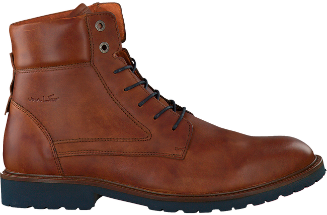 VAN LIER Bottines à lacets 5503 en cognac - large
