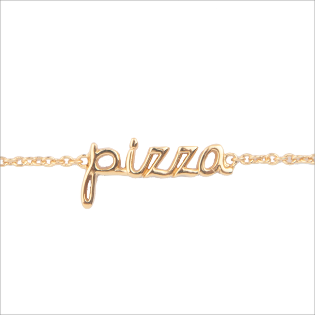 ALLTHELUCKINTHEWORLD Bracelet URBAN BRACELET PIZZA en or - large