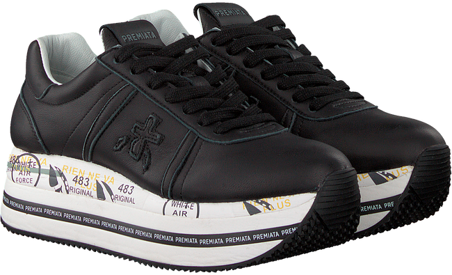 PREMIATA Baskets basses BETH en noir  - large