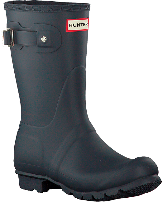 HUNTER Bottes en caoutchouc WOMENS ORIGINAL SHORT en bleu - large