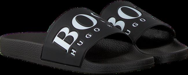 HUGO BOSS Tongs SOLAR SLID LOGO en noir - large