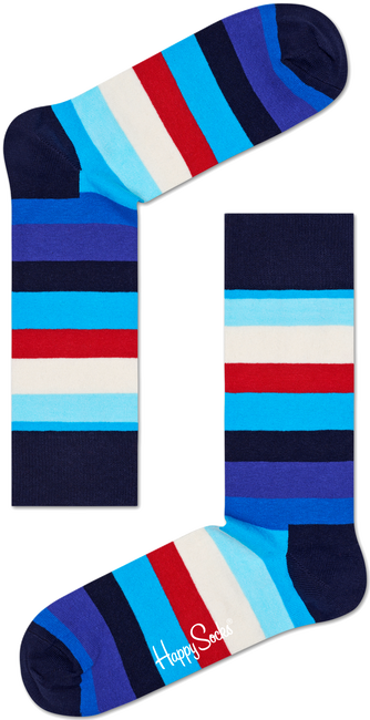 HAPPY SOCKS Chaussettes STRIPE en bleu - large
