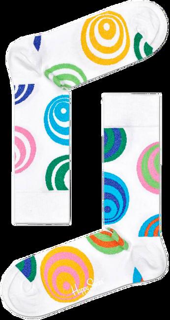 HAPPY SOCKS Chaussettes HYPNOSIS en blanc  - large