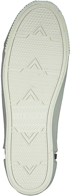DIESEL Baskets ZIP-TURF en blanc - large