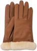 Cognac UGG Handschoenen CLASSIC LEATHER SMART GLOVE - small