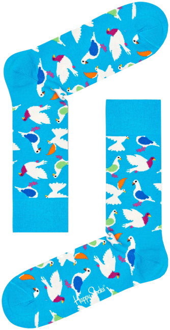 HAPPY SOCKS Chaussettes PIGEON SOCK en blanc  - large