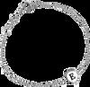 ALLTHELUCKINTHEWORLD Bracelet CHARACTER BRACELET LETTER SILV en gris - small