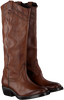 Cognac CATARINA MARTINS Lange Laarzen NOMAD HIGH EMBROIDERY  - small