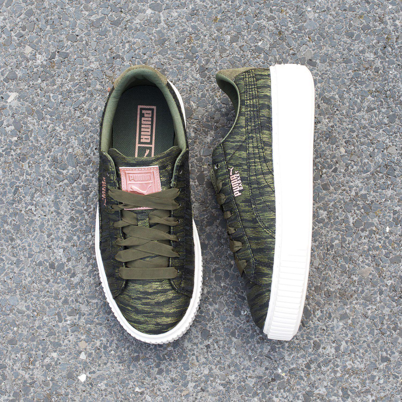 7b8be4f3697 Groene PUMA Sneakers BASKET PLATFORM VR - Omoda.be