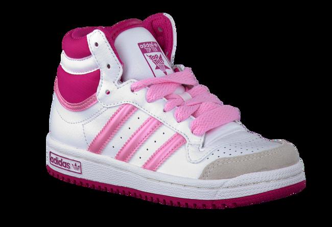 white ADIDAS shoe TOPTEN HI  - large