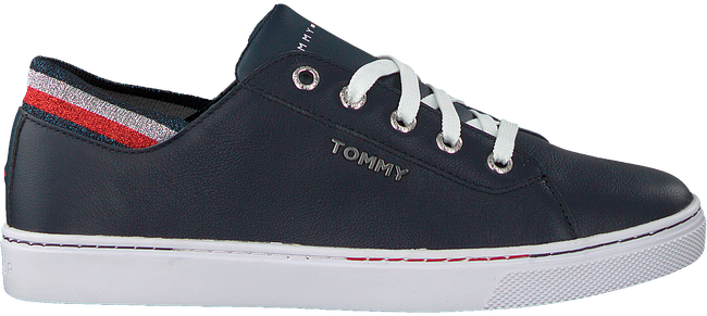 Blauwe TOMMY HILFIGER Lage sneakers GLITTER DETAIL CITY  - large