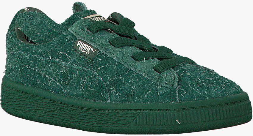 PUMA Baskets PUMA X TC BASKET FURRY en vert - larger