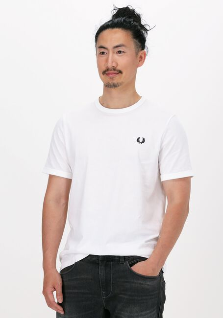 Witte FRED PERRY T-shirt RINGER T-SHIRT  - large