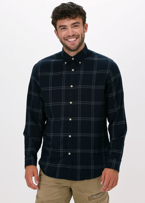 Blauwe SELECTED HOMME Casual overhemd SLIMFLANNEL SHIRT LS W - large