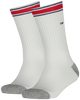 TOMMY HILFIGER Chaussettes TH KIDS ICONIC SPORTS SOCK 2P en blanc - small