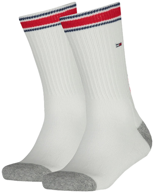 TOMMY HILFIGER Chaussettes TH KIDS ICONIC SPORTS SOCK 2P en blanc - large