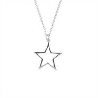 ALLTHELUCKINTHEWORLD Collier SOUVENIR NECKLACE STAR en argent - medium