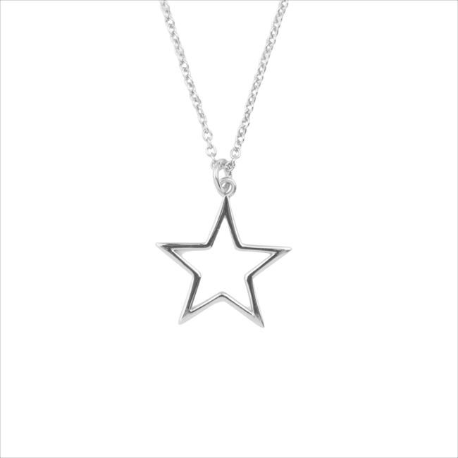 ALLTHELUCKINTHEWORLD Collier SOUVENIR NECKLACE STAR en argent - large
