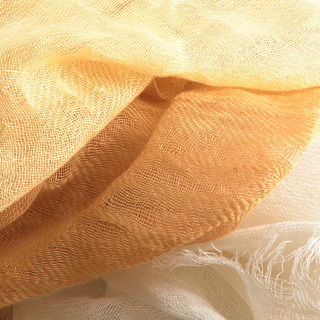 NOTRE-V Foulard BLUE en jaune  - large