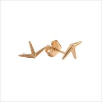 Gouden ATLITW STUDIO Oorbellen PARADE EARRINGS STARFISH HALF - medium