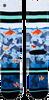 XPOOOS Chaussettes GOLDFISH en bleu  - small